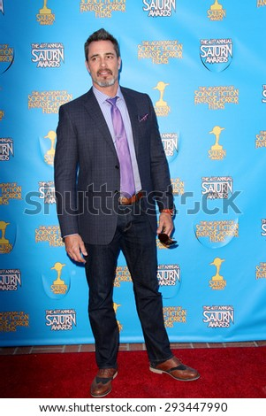 BURBANK - JUNE 25: Victor Webster arrives at the 41st Annual Saturn Awards on Thursday, June 25, 2015 at the Castaway Restaurant in Burbank, CA. - stock photo