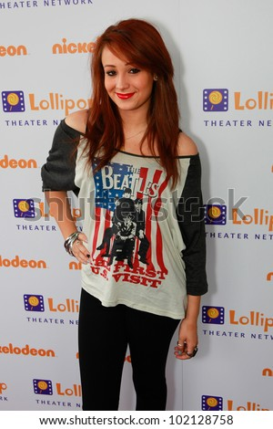 BURBANK - MAY 7: Caitlyn Taylor Love attends Lollipop Theater Network 3rd Annual Game Day at Nickelodeon Animation Studios , May 7, 2011 in Burbank, CA - stock photo