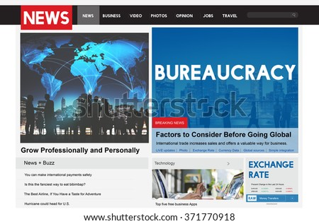 Bureaucracy Organization Government Decision System Concept - stock photo