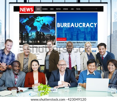 Bureaucracy Organization Government Decision System Concept - stock photo
