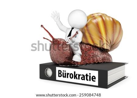 bureaucracy snail - stock photo