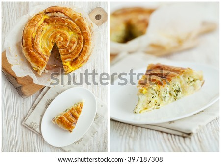 Burek with cheese  - stock photo
