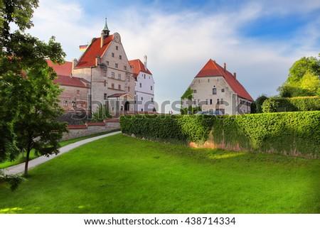 Burg Trausnitz castle in Landshut, Bavaria, Germany - stock photo