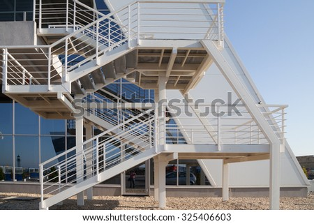 Burgas - August 28: Stair construction of Naval Station on August 28th, 2015 Bourgas, Bulgaria