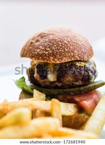burger - stock photo