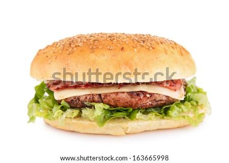burger isolated - stock photo