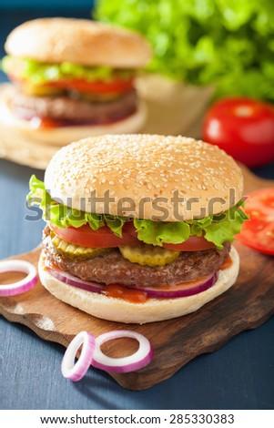 ... burgers fresh burgers assorted delicious big hamburgers set of