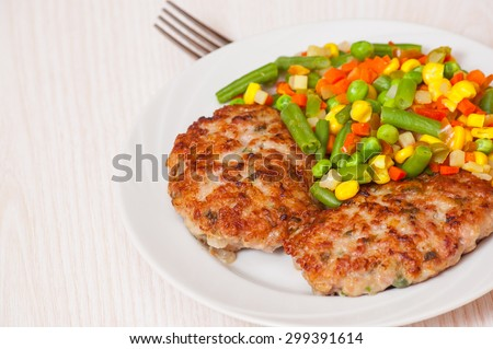 Burger with Mixed vegetables - stock photo
