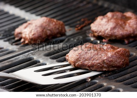 Burgers on the Grill - stock photo