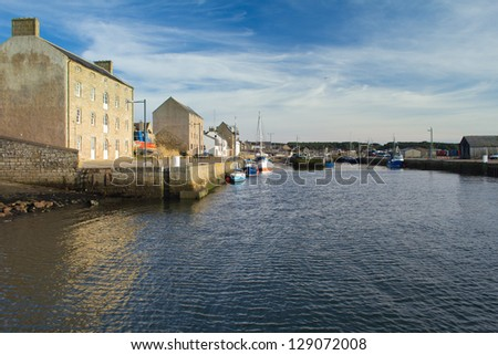 Burghead -  a small coastal town on the Morayshire coast, Scotland. - stock photo