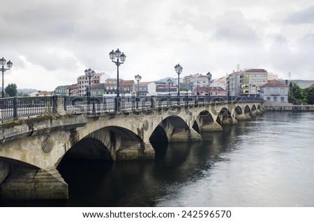Burgo bridge in Pontevedra (Spain) - stock photo