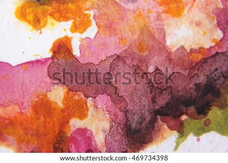 Burgundy and Yellow Watercolour Textures 4