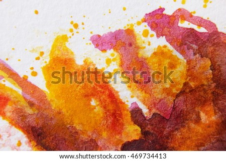 Burgundy and Yellow Watercolour Textures 6