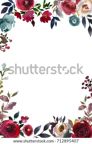 Burgundy Flowers Stock Images Royalty Free Images