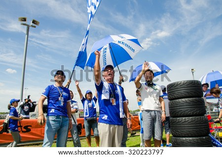 BURIRAM - JUNE 21: Grid walk on track at The 2015 Autobacs Super GT Series Race 3 on June 21, 2015 at Chang International Racing Circuit, Buriram Thailand.