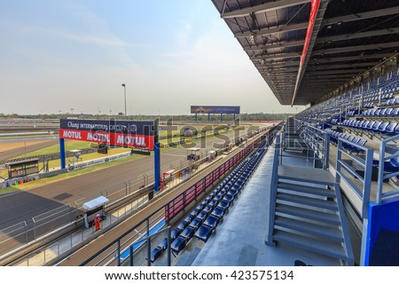 Buriram, Thailand - March 10, 2016: The Chang International Circuit Buriram Thailand.