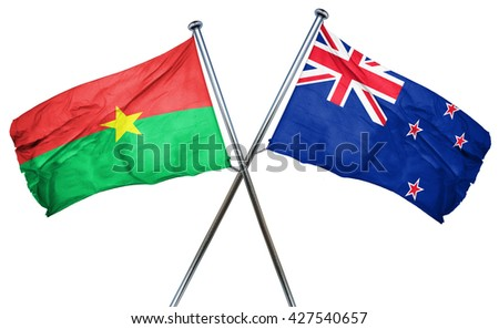 Burkina Faso flag  combined with new zealand flag