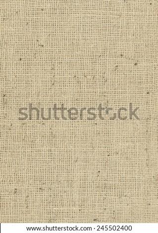 Burlap Background Fabric - Potato Sack Fabric - stock photo