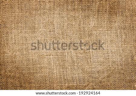Burlap hessian square, background  - stock photo