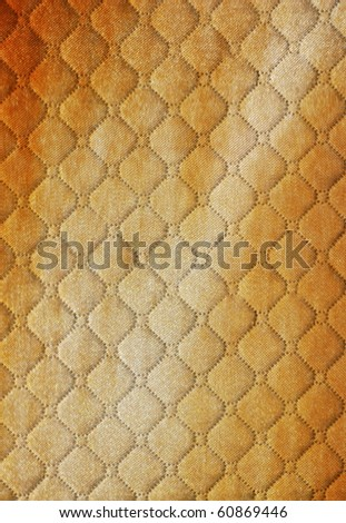 burlap  picture of genuine leather upholstery - stock photo