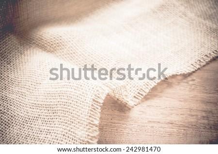 burlap texture, background - stock photo