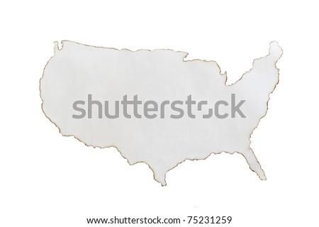 United States America D Metal Map Stock Illustration - Usa map shape
