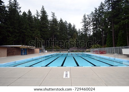 Swimming pool design modern residence stock photo for Pool design vancouver