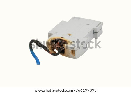 burned electrical circuit breaker fuse box stock photo image rh shutterstock com House Fuse Box Car Fuse Box