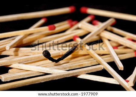 burned matchstick