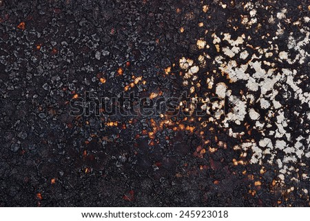 Burned old frying pan texture - stock photo