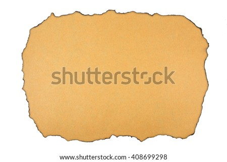 Burned paper texture background - stock photo