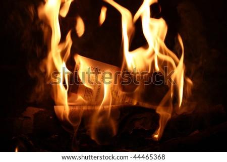 Burned up Retirement - stock photo