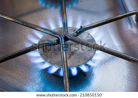 Burner from a gas stove in a caravan
