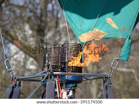 Burner of the hot air balloon - stock photo