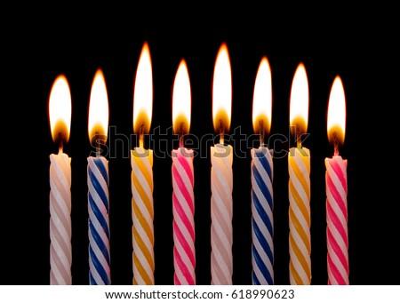 stock-photo-burning-birthday-candles-on-