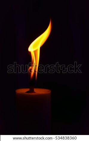 Burning candle.