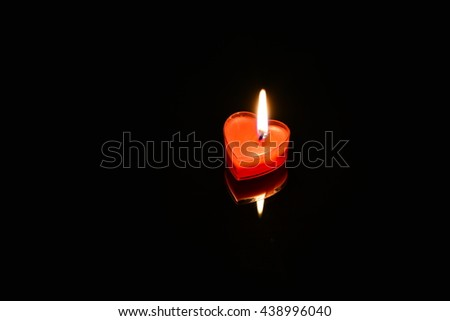 burning candle heart