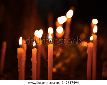 burning candlelight - stock photo
