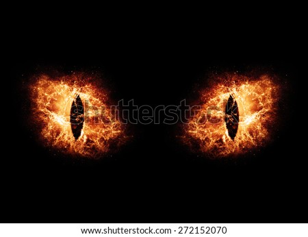 Burning Eyes - Elements of this Image Furnished by NASA - stock photo