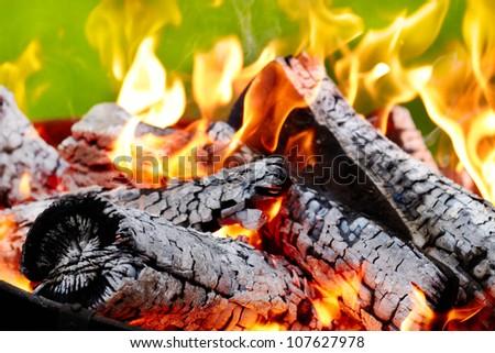burning fire - stock photo