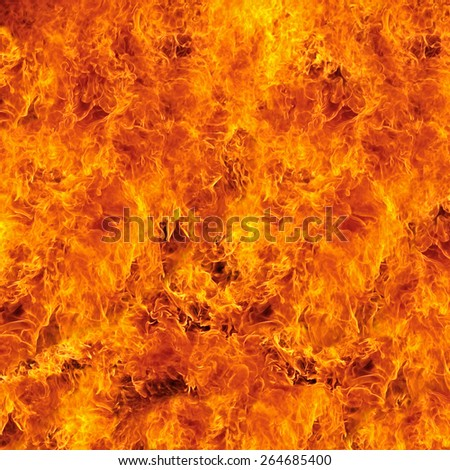 Burning fire flame for background - stock photo