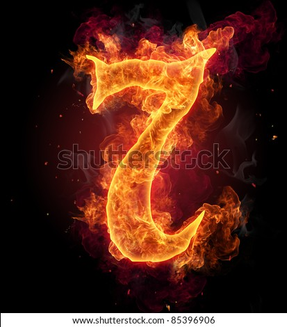 "Burning fire number ""7"""