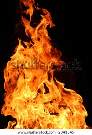 Burning flames for detail - stock photo