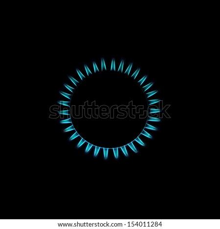 Burning natural gas - stock photo