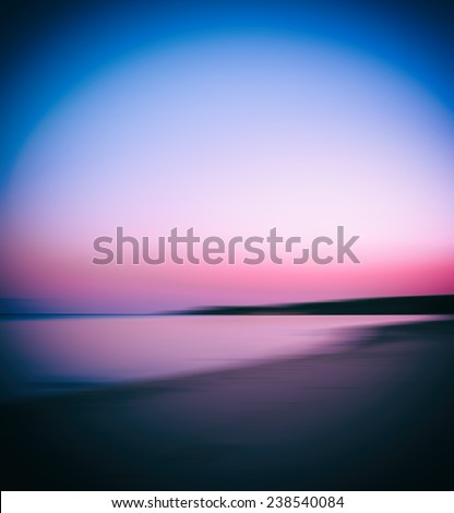 Burning sunset abstraction - stock photo