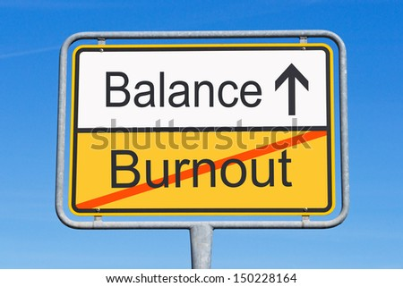 Burnout and Balance - stock photo