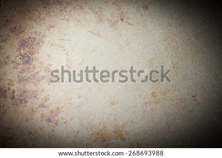 burnt metal background, vignetted, with space for text or image - stock photo