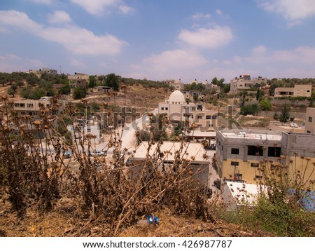 Burqin, Arab territories in Palestine. Traditional place described in Bibii healing 10 lepers