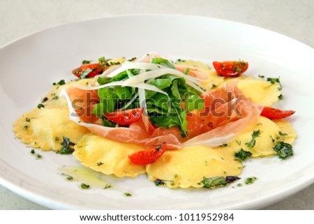 burrata ravioli with speak italian
