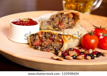 Burrito - stock photo